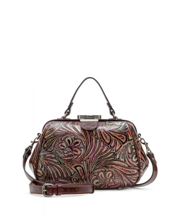 Gracchi Satchel - Metallic Tobacco Fields - Tobacco Multi