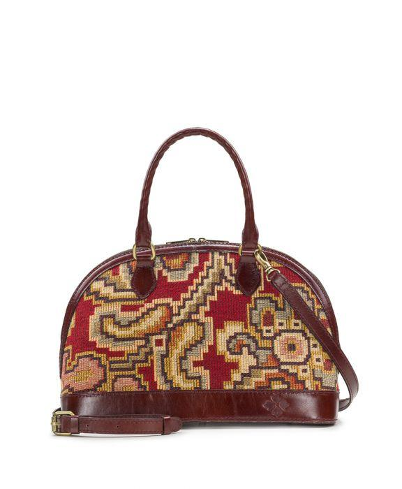 Tarma Satchel - Peruvian Tapestry Red