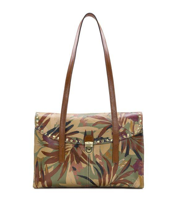 Verbania Satchel - Palm Leaves