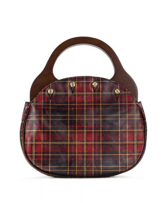 Varazze Reversible/Wood Handle - Tartan Plaid