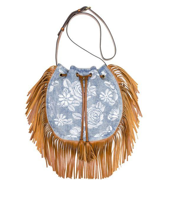 Carrara Drawstring - Spanish Villa Embroidered Washed Denim