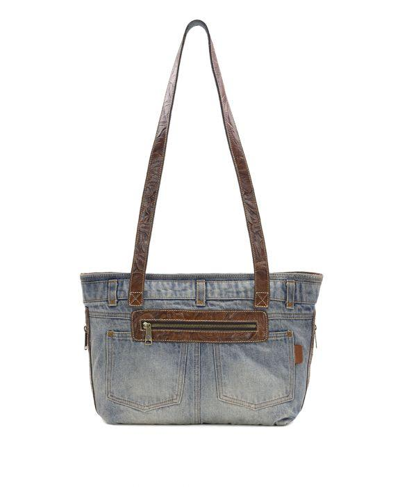 Nevoso Zip Tote - Denim 1