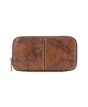 Oria Zipper Billfold - Signature Map