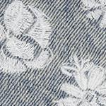 Carrara Drawstring - Spanish Villa Embroidered Washed Denim - Spanish Embroidery Light Denim - Swatch