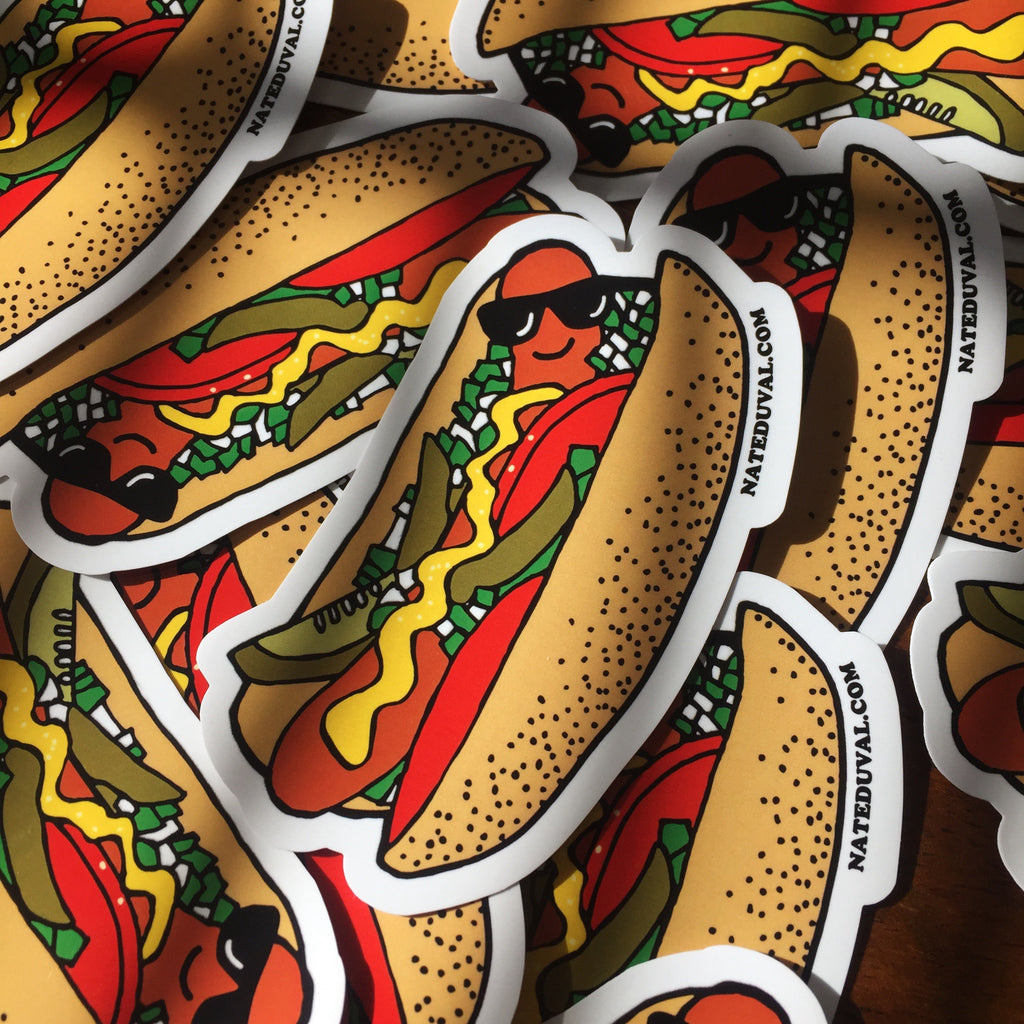 Chicago Dog Sticker