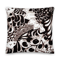Premium Ilustrated Ink Pillow - Zoe Louise Illustration