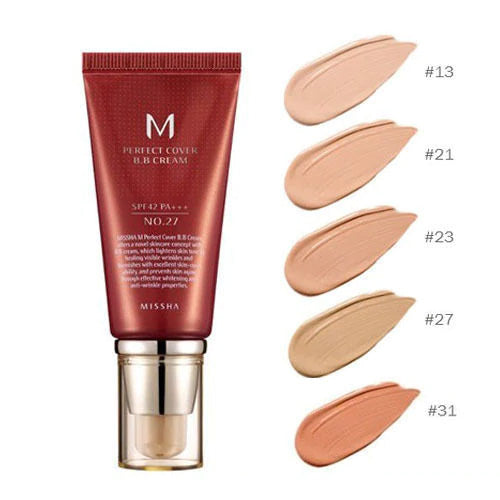 Missha M Pefect Covering BB Cream 50ml, SPF42 PA+++ , No.27 Honey Beige (Blemish coverage and Power Long Lasting)