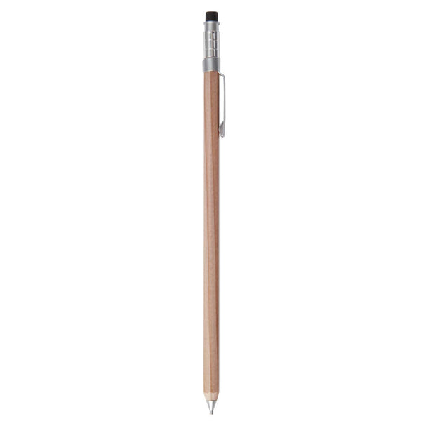 MUJI Wood Shaft Hexagon Mechanical Pencil Mini 0.5mm - ibspot