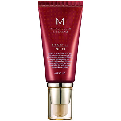 Missha M Pefect Covering BB Cream 50ml, SPF42 PA+++ , No.13 Bright Beige (Blemish coverage and Power Long Lasting)
