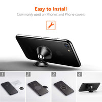 Magnetic Car Mount, 360 Rotation Car Phone Holder for Dashboard Cell Phone Cradle Mount Compatible with Samsung Galaxy Note 9 / S9 / S9 Plus / S8 / S7, iPhone X / 8 / 7 / 6 / 5 and More - ibspot
