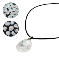 [Create jobs in Zambia, Africa] Moonstone Handmade African Jewelry Water-eye Design Pendant Necklace, ★ Get Free Jewelry Box ★ - ibspot