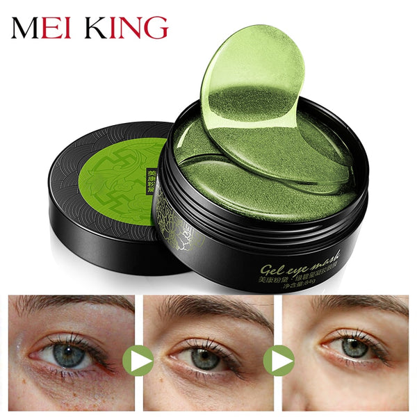 MEIKING Collagen gel Eye Mask Anti-Puffiness Anti-Aging Hyaluronic Acid Moisturizing Remover Dark Circles Eye Patches 60pc - ibspot