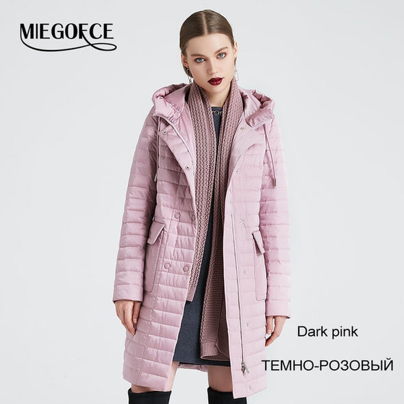Women's Spring & Autumn Stylish Windproof Jacket  Coat with Hood