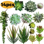 14 pcs Artificial/Faux/Fake Succulent Plants - ibspot