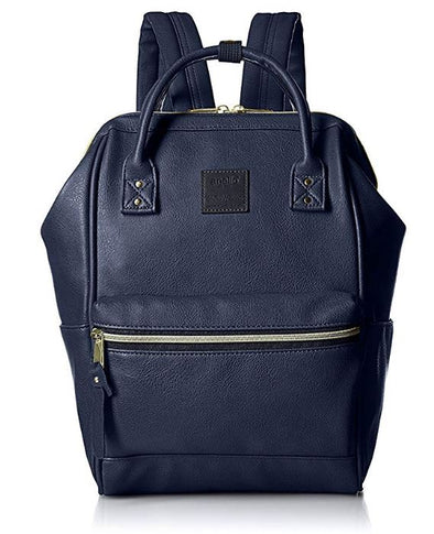 [Japan Import] Anello Synthetic Leather Backpack (Small Size / Navy) - ibspot
