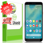 [2 Pack] Google Pixel 3a 5.6 inch (Case Friendly) Screen Protector Compatible with LiquidSkin Anti-Bubble Clear Film - ibspot