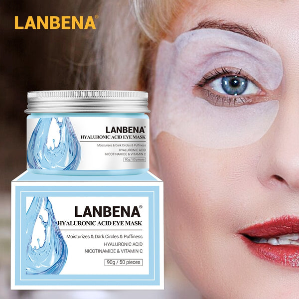 LANBENA Retinol Eye Mask Hyaluronic Acid Eye Patches Serum - ibspot