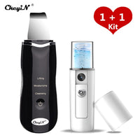 Ultrasonic Nano Ion Skin Scrubber Cleaner Face + Facial Steamer Sprayer 39 - ibspot