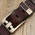 Men Genuine Leather Belt with Luxury Pin Buckle - ibspot