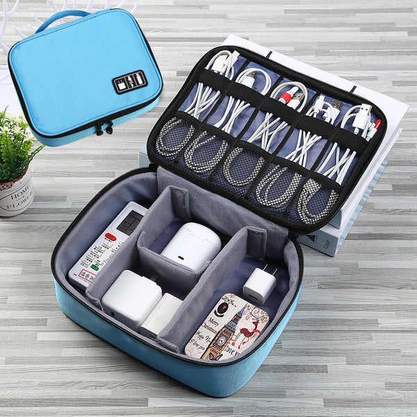 Multi-Functional Portable Organizer Pouch for USB Data Cable, Earphone, Wired pen and Power bank