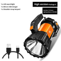 Super Bright LED Flashlight with side light and 6 lighting modes for outdoor camping - ibspot