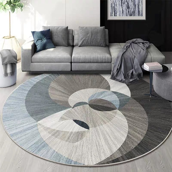 Nordic Geometric Round Printed Rug for Decoration Parlor Carpet, Hotel carpet - ibspot
