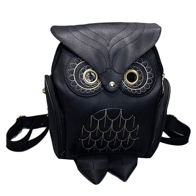 Cute Owl Pu Leather Backpack for Teenage Girls - ibspot