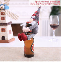 FENGRISE Christmas Decorations Wine Bottle Cover - ibspot