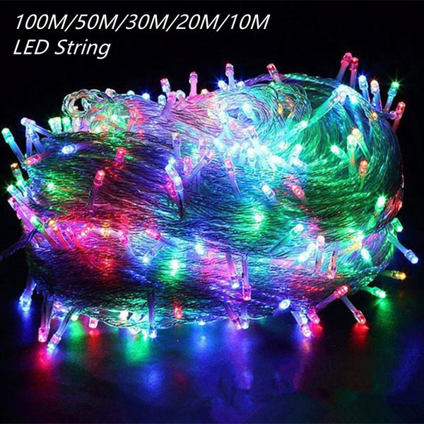 LED Garland String Outdoor Light for Christmas Tree & Wedding Party Decoration