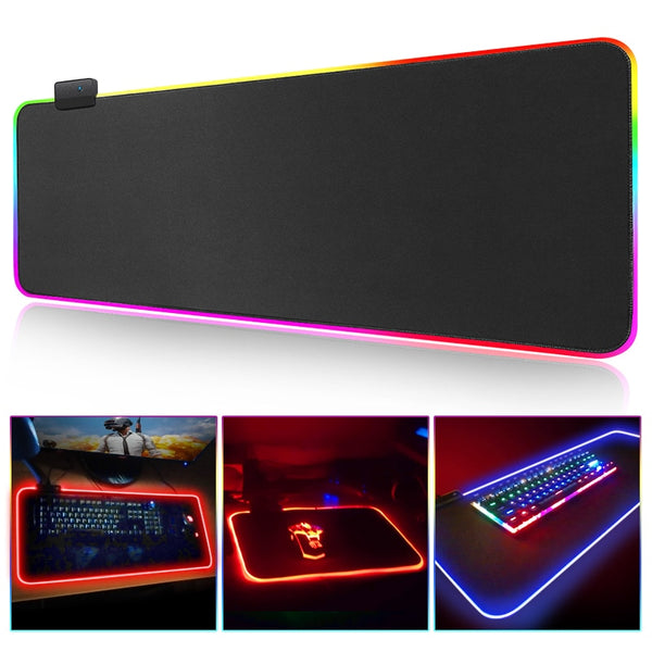 XXL Size Gaming Mouse Pad with RGB Backlight Mause Pad - ibspot