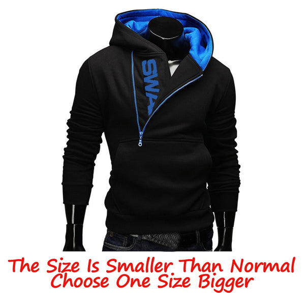 Men's Collar Cap Long Sleeves Sports Hoodies Tracksuit Sweatshirt for Winter Warm