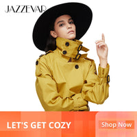 JAZZEVAR New Women Autumn Double Breasted Trench Coat - ibspot