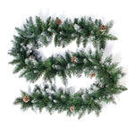 Christmas Hanging Ornament Rattan Garland with Pine Cones - ibspot