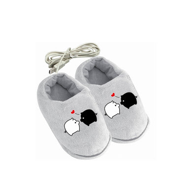 Soft, Safe & Reliable USB Electric Heating Slipper - ibspot