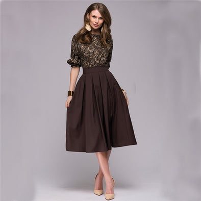 Women's Floral Printed Casual Elegant Dress