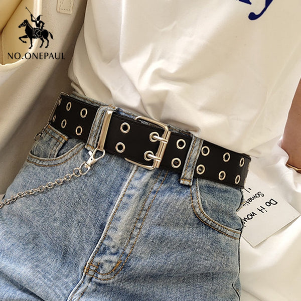 Women Genuine Leather Punk style Fashion Belts