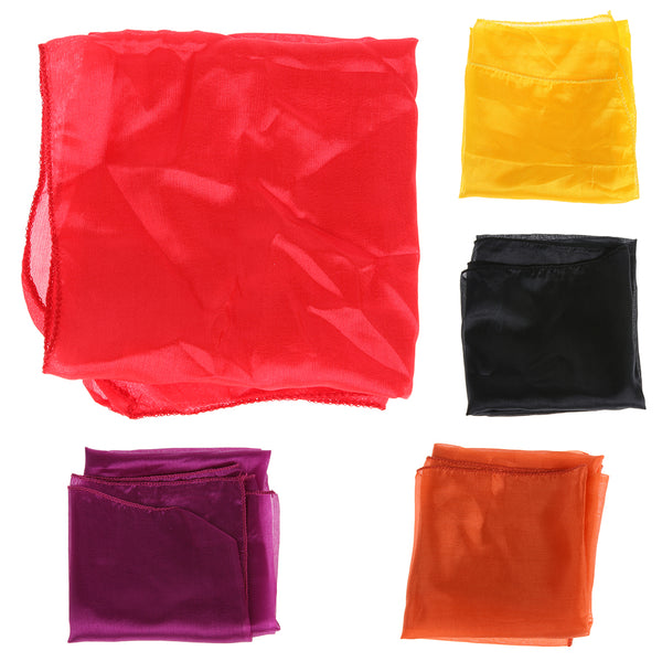 Magic Silk Ultrathin Scarf 45X45cm Necessary Magic Props Accessories Multicolor ultra-thin Scarves Magic Tricks for Stage Close
