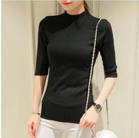 sleeve head sleeve five spring and autumn cultivation in semi thin section of sleeve tight turtleneck sweater backing - ibspot