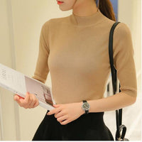 sleeve head sleeve five spring and autumn cultivation in semi thin section of sleeve tight turtleneck sweater backing