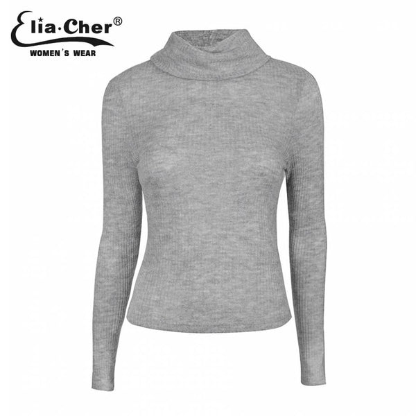 Pullover Women Winter Sweater  Full Sleeve Lady Tops Eliacher Brand Plus Size Casual Women Clothing Fashion Women Tops