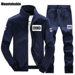 Men's Sets Casual Hoodies Set Solid Sweatshirts for Spring & Autumn Tracksuit