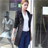 1PC Trench Coat For Women Double Breasted Slim Fit Long Spring Coat Casaco Feminino Abrigos Mujer Autumn Outerwear - ibspot