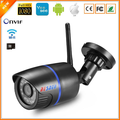 Wireless & Wired IP Camera 1080P  for P2P CCTV with Max 64G Miscro SD Card Slot - ibspot