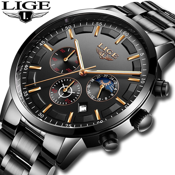 Men Luxury Business Waterproof  Quartz Watch  Watch