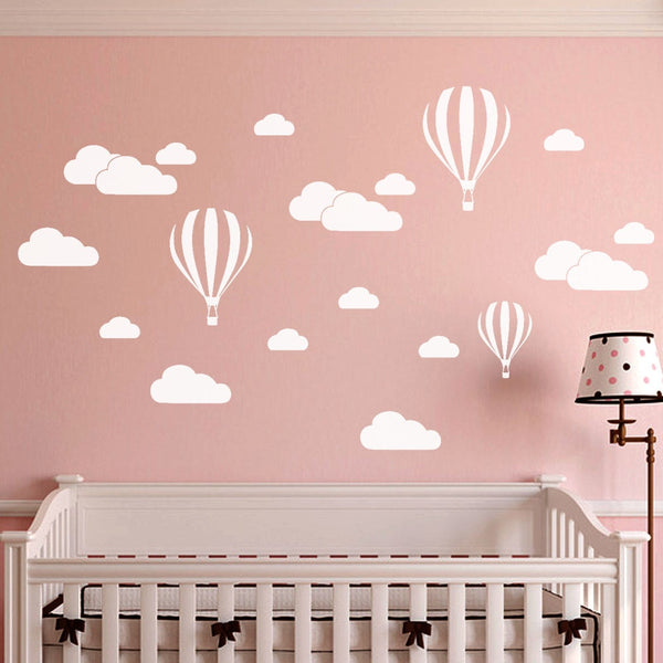 KAKUDER wall sticker for kids room DIY Large Clouds Balloon Decals a802 08 - ibspot