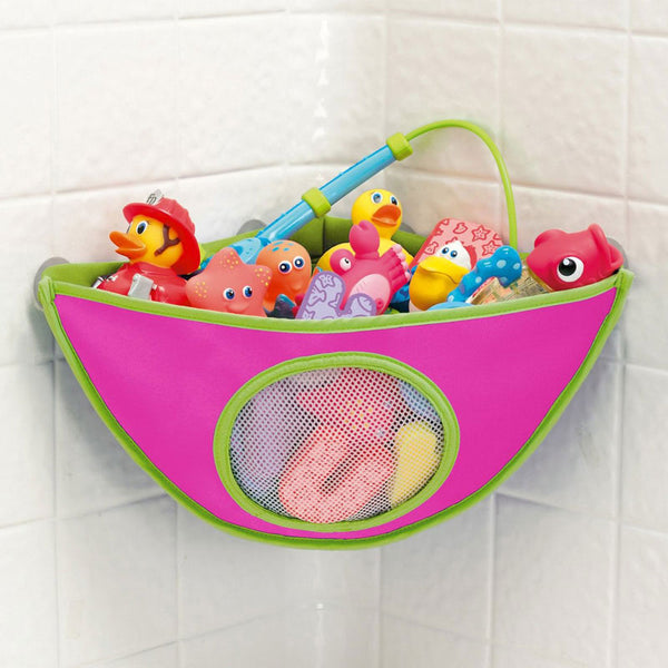 Kids Bath Toys Storage Bag With Suction Cup Children Bathroom Waterproof Bathing Toys Collection Organizer Hanging Wall Bag