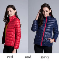NewBang Brand Down Jacket Women Ultra Light Down Jacket Women Feather Double Side Windbreaker Reversible Lightweight Coat Parks - ibspot