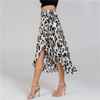 Sheinside Waist Knot Leopard Print Women Skirt Mid Waist Ladies Shift Skirts Casual Womens Clothing Summer 2018 New Midi Skirt - ibspot