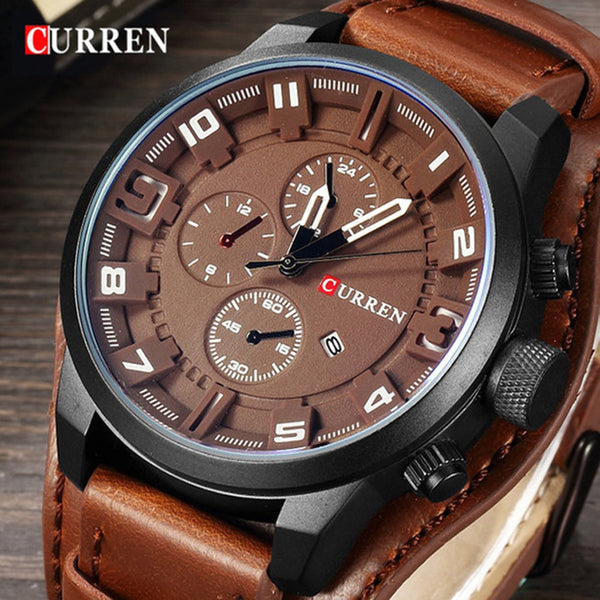 Mens Watches Waterproof Luxury Calendar Fashion Male Clock
