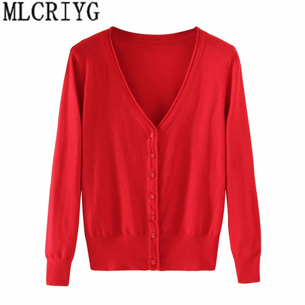 Spring Lady's Knitted Sweater Plus Size 5xl Cardigans for Women Long Sleeve Female Cardigan Short Sweaters sueter mujer YQ213 - ibspot